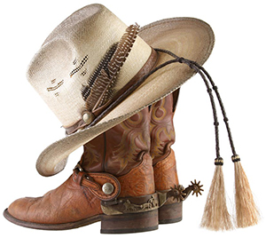 Ranch Rack Cowboy Hats and Boots