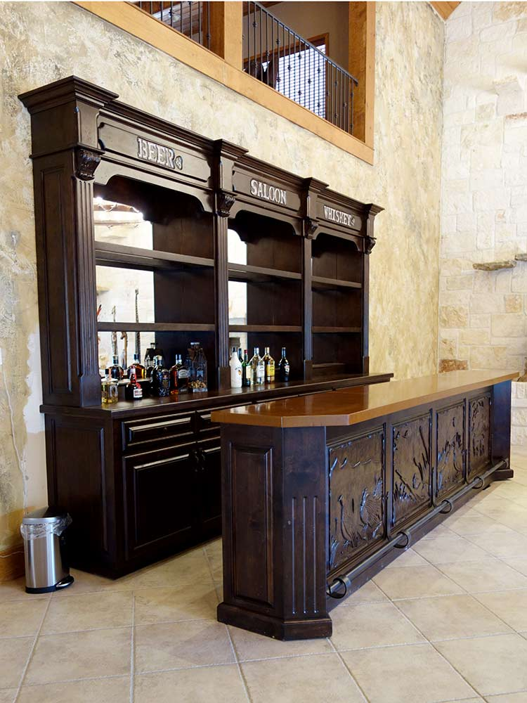 Old West Saloon Bar, Custom Design from Ranch Rack, San Antonio, Texas