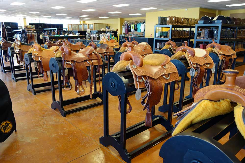 The Laredo Saddle Racks from Ranch Rack, San Antonio, Texas