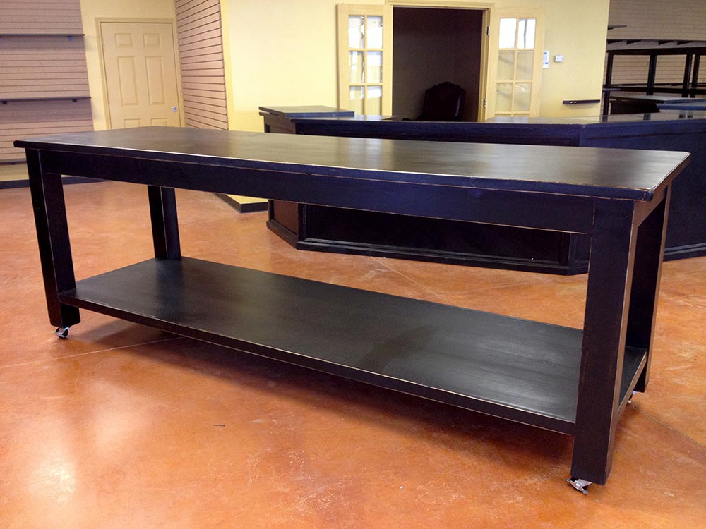 Ranch Rack Large Rolling Tables on Industrial Casters