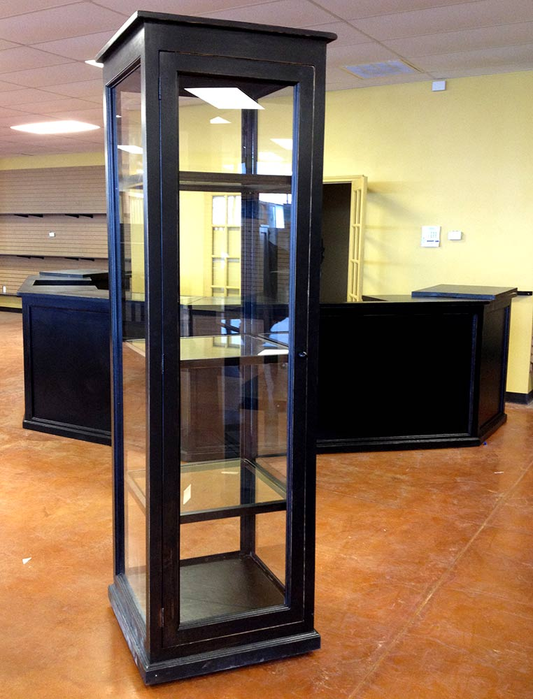 Ranch Rack Tall Glass Abilene Showcase Cabinet for Hats and Accessories