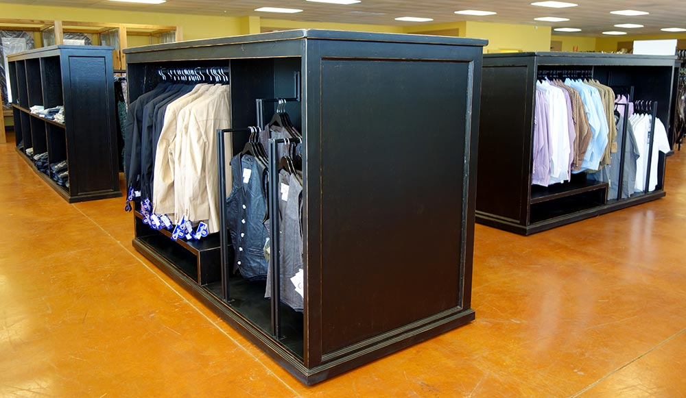 Hanging Rack Rolling Cabinets for Western Wear, Shirts and Jackets, from Ranch Rack, San Antonio, Texas