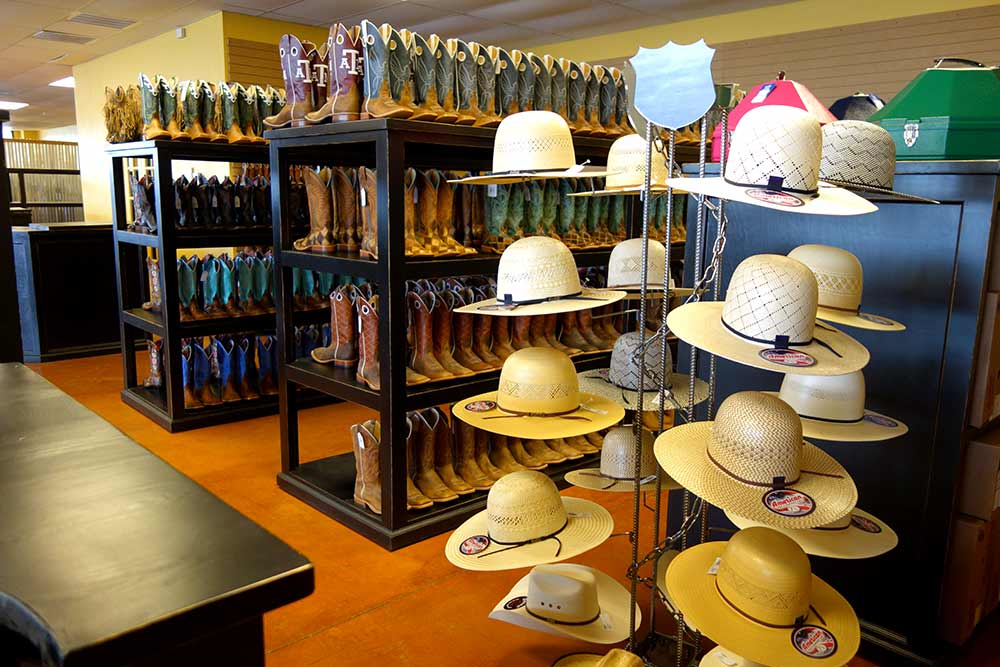 Abilene Hat Counters, Cowboy Hat Racks and Showcase Cabinets from Ranch Rack, San Antonio, Texas