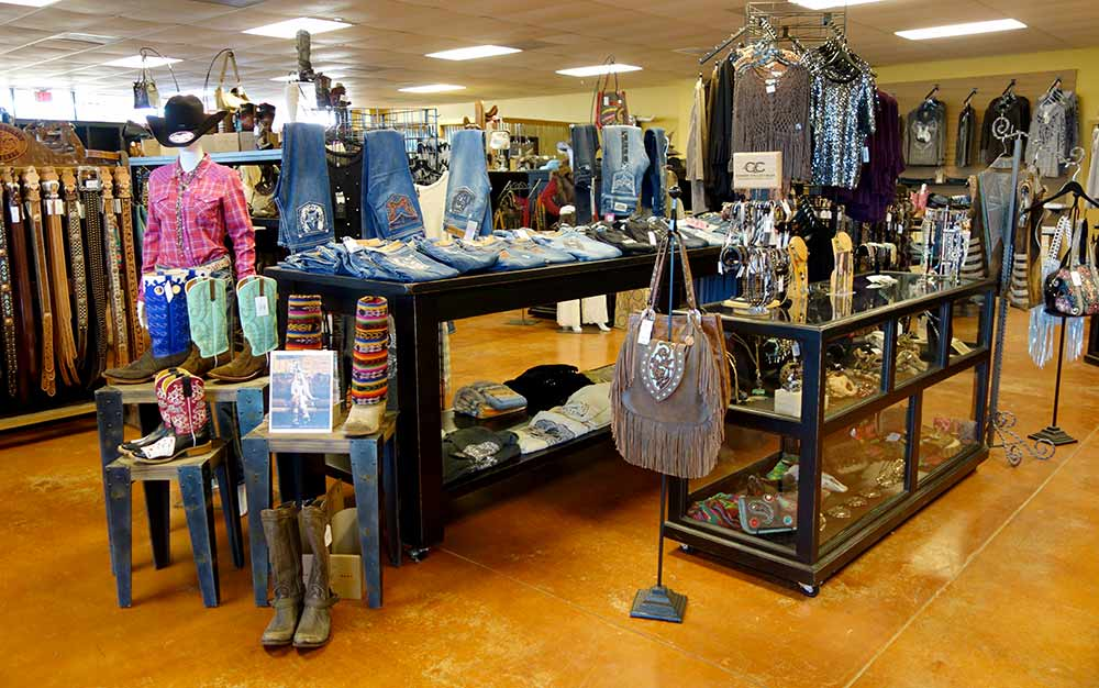 Cowboy Hat Counters and Rolling Display Cabinets from Ranch Rack