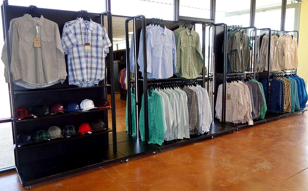 shirt display rack